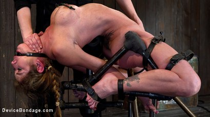 Felony Bound in Cruel Latex, Metal and Leather Bondage!