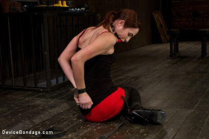 Photo number 1 from Part 1 of 4 of the Live February Shoot<br>Breaking Amber Rayne shot for Device Bondage on Kink.com. Featuring Amber Rayne in hardcore BDSM & Fetish porn.