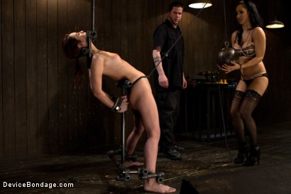 Photo number 3 from Part 1 of 4 of the Live February Shoot<br>Breaking Amber Rayne shot for Device Bondage on Kink.com. Featuring Amber Rayne in hardcore BDSM & Fetish porn.