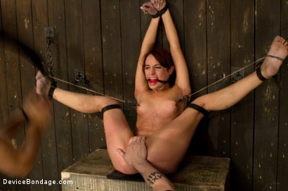 Photo number 5 from Flexible whore is spread wide with evil foot torment, sadistic impact, and brutal nipple torment shot for Device Bondage on Kink.com. Featuring Amber Rayne in hardcore BDSM & Fetish porn.