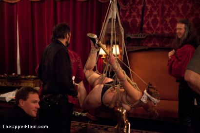 Photo number 17 from New Year Party Part 1  Fresh Meat for 2012 shot for The Upper Floor on Kink.com. Featuring Beretta James, Dylan Ryan, Audrey Rose and Odile in hardcore BDSM & Fetish porn.