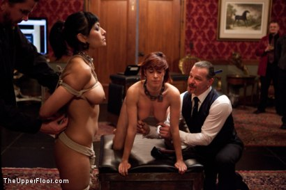Photo number 9 from New Year Party Part 1  Fresh Meat for 2012 shot for The Upper Floor on Kink.com. Featuring Beretta James, Dylan Ryan, Audrey Rose and Odile in hardcore BDSM & Fetish porn.