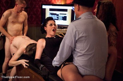 Photo number 14 from New Year Party Part 2 shot for The Upper Floor on Kink.com. Featuring Beretta James, Dylan Ryan, Audrey Rose and Odile in hardcore BDSM & Fetish porn.