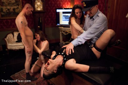 Photo number 15 from New Year Party Part 2 shot for The Upper Floor on Kink.com. Featuring Beretta James, Dylan Ryan, Audrey Rose and Odile in hardcore BDSM & Fetish porn.
