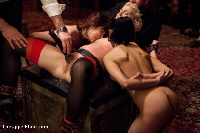 Photo number 22 from New Year Party Part 2 shot for The Upper Floor on Kink.com. Featuring Beretta James, Dylan Ryan, Audrey Rose and Odile in hardcore BDSM & Fetish porn.