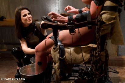 Photo number 9 from Phoenix Marie Suffers to an Electric Chair shot for Electro Sluts on Kink.com. Featuring Phoenix Marie and Bobbi Starr in hardcore BDSM & Fetish porn.