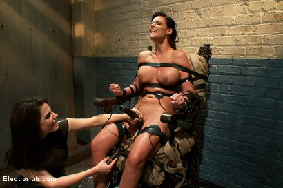 Photo number 14 from Phoenix Marie Suffers to an Electric Chair shot for Electro Sluts on Kink.com. Featuring Phoenix Marie and Bobbi Starr in hardcore BDSM & Fetish porn.
