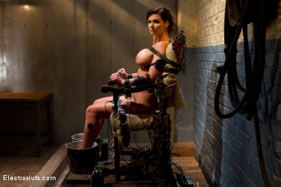 Photo number 3 from Phoenix Marie Suffers to an Electric Chair shot for Electro Sluts on Kink.com. Featuring Phoenix Marie and Bobbi Starr in hardcore BDSM & Fetish porn.
