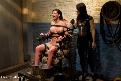 Photo number 5 from Phoenix Marie Suffers to an Electric Chair shot for Electro Sluts on Kink.com. Featuring Phoenix Marie and Bobbi Starr in hardcore BDSM & Fetish porn.