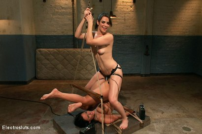 Photo number 15 from Big Tittied Sub Whore Phoenix Can't get Enough Electrosex Punishment! shot for Electro Sluts on Kink.com. Featuring Phoenix Marie and Bobbi Starr in hardcore BDSM & Fetish porn.