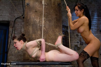 Photo number 12 from Sweet Juliette Hogtied and Violated by Isis Love shot for Hogtied on Kink.com. Featuring Juliette March and Isis Love in hardcore BDSM & Fetish porn.