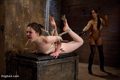 Photo number 9 from Sweet Juliette Hogtied and Violated by Isis Love shot for Hogtied on Kink.com. Featuring Juliette March and Isis Love in hardcore BDSM & Fetish porn.