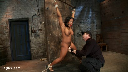 Photo number 10 from 18yr experience very first hardcore bondage scene. Huge natural tits & perfect ass. Made to squirt! shot for Hogtied on Kink.com. Featuring Yasmine Loven in hardcore BDSM & Fetish porn.