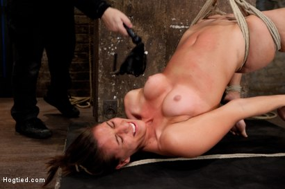 Photo number 5 from Welcome 18 year old Rilynn! shot for Hogtied on Kink.com. Featuring Rilynn Rae in hardcore BDSM & Fetish porn.