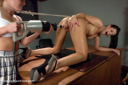 Photo number 9 from Two-fer Again: Two Girls are Better Than One shot for Fucking Machines on Kink.com. Featuring Aiden Aspen and India Summer in hardcore BDSM & Fetish porn.