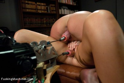 Photo number 7 from Guidance Counselor Confidential: Fisting a Milf in Bondage, Machine Fucking a Rookie in the Ass shot for Fucking Machines on Kink.com. Featuring Aiden Aspen and India Summer in hardcore BDSM & Fetish porn.