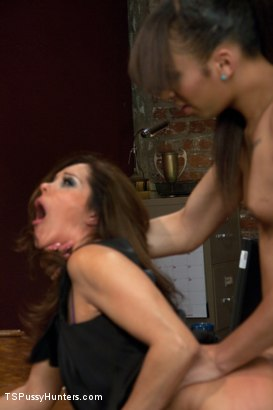 Photo number 13 from Ts Honey fucks The Dean of Her College with Her HUGE COCK shot for TS Pussy Hunters on Kink.com. Featuring Honey FoXXX and Francesca Le in hardcore BDSM & Fetish porn.