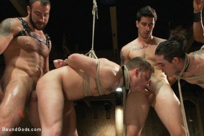 Photo number 10 from Slave Auction - Live Shoot shot for Bound Gods on Kink.com. Featuring Dylan Deap, Spencer Reed, Van Darkholme, Sebastian Keys and Tyler Alexander in hardcore BDSM & Fetish porn.