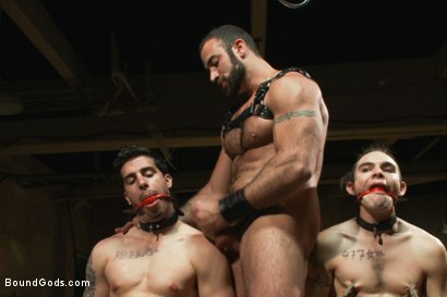 Photo number 12 from Slave Auction - Live Shoot shot for Bound Gods on Kink.com. Featuring Dylan Deap, Spencer Reed, Van Darkholme, Sebastian Keys and Tyler Alexander in hardcore BDSM & Fetish porn.