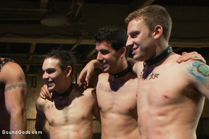 Photo number 15 from Slave Auction - Live Shoot shot for Bound Gods on Kink.com. Featuring Dylan Deap, Spencer Reed, Van Darkholme, Sebastian Keys and Tyler Alexander in hardcore BDSM & Fetish porn.