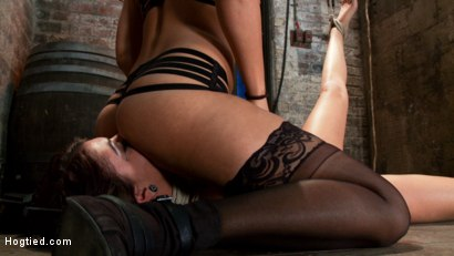 Photo number 7 from Cassandra Nix - Back For More - Live Bondage Show Part 1 shot for Hogtied on Kink.com. Featuring Cassandra Nix and Isis Love in hardcore BDSM & Fetish porn.