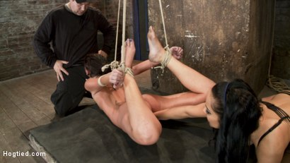 Photo number 14 from Cassandra Nix Live Show Part 2 shot for Hogtied on Kink.com. Featuring Cassandra Nix and Isis Love in hardcore BDSM & Fetish porn.