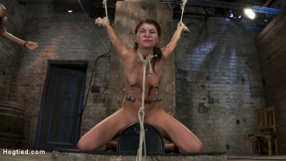 Photo number 1 from Cassandra Nix Live Show Part 3 shot for Hogtied on Kink.com. Featuring Cassandra Nix and Isis Love in hardcore BDSM & Fetish porn.