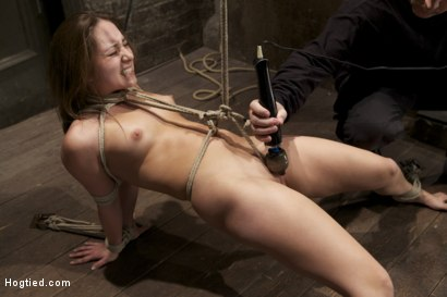 Photo number 12 from Cute girl next door, bound, face fucked, made to cum over & over, brutal bondage and pussy torment! shot for Hogtied on Kink.com. Featuring Remy LaCroix in hardcore BDSM & Fetish porn.