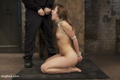 Photo number 6 from Cute girl next door, bound, face fucked, made to cum over & over, brutal bondage and pussy torture! shot for Hogtied on Kink.com. Featuring Remy LaCroix in hardcore BDSM & Fetish porn.
