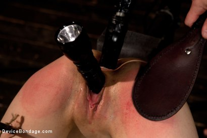 Photo number 11 from Tomi Knox Assaults Fuck Doll Kristine Kahill With Creative Devices and Sadism shot for Device Bondage on Kink.com. Featuring Kristine Kahill and Tomi Knox in hardcore BDSM & Fetish porn.