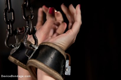 Photo number 3 from Tomi Knox Assaults Fuck Doll Kristine Kahill With Creative Devices and Sadism shot for Device Bondage on Kink.com. Featuring Kristine Kahill and Tomi Knox in hardcore BDSM & Fetish porn.