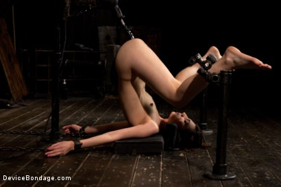 Photo number 7 from Tomi Knox Assaults Fuck Doll Kristine Kahill With Creative Devices and Sadism shot for Device Bondage on Kink.com. Featuring Kristine Kahill and Tomi Knox in hardcore BDSM & Fetish porn.