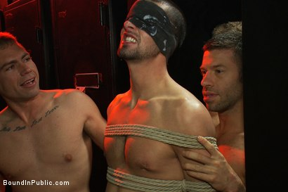 Photo number 8 from Glory Hole Pig shot for Bound in Public on Kink.com. Featuring Tristan Jaxx and Jake Steel in hardcore BDSM & Fetish porn.