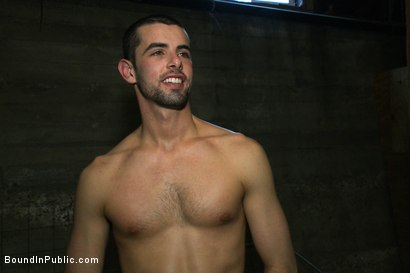 Photo number 15 from Glory Hole Pig shot for Bound in Public on Kink.com. Featuring Tristan Jaxx and Jake Steel in hardcore BDSM & Fetish porn.