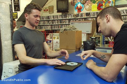 Photo number 1 from Unauthorized Reproduction shot for Bound in Public on Kink.com. Featuring Cole Brooks and Colby Jansen in hardcore BDSM & Fetish porn.