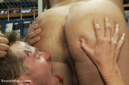 Photo number 8 from Unauthorized Reproduction shot for Bound in Public on Kink.com. Featuring Cole Brooks and Colby Jansen in hardcore BDSM & Fetish porn.