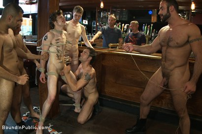 Photo number 14 from A furry gets beaten and gang fucked at a public bar. shot for Bound in Public on Kink.com. Featuring Spencer Reed and Cory Bengal in hardcore BDSM & Fetish porn.