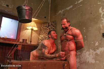 Photo number 10 from The Creepy Janitor and Another Bodybuilder shot for Bound Gods on Kink.com. Featuring Brenn Wyson and Derek Pain in hardcore BDSM & Fetish porn.