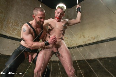 Photo number 5 from A New Dom and Sub #316 shot for Bound Gods on Kink.com. Featuring Sebastian Keys and Adam Herst in hardcore BDSM & Fetish porn.