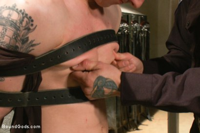Photo number 4 from Stay out of the fucking fast lane! shot for Bound Gods on Kink.com. Featuring Parker London and Tyler Alexander in hardcore BDSM & Fetish porn.