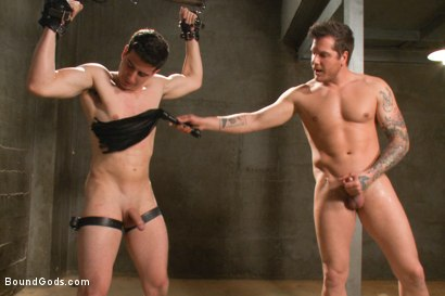 Photo number 8 from Stay out of the fucking fast lane! shot for Bound Gods on Kink.com. Featuring Parker London and Tyler Alexander in hardcore BDSM & Fetish porn.
