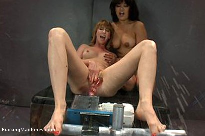 Photo number 5 from Squirting Games - Show us Your Squirting Pussy Power. shot for Fucking Machines on Kink.com. Featuring Mallory Mallone and Annie Cruz in hardcore BDSM & Fetish porn.