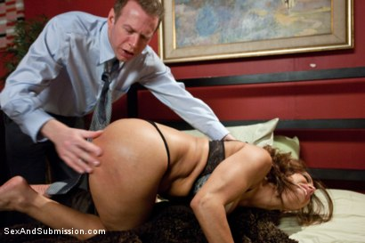 Photo number 4 from The Cheating Wife: Francesca Le Brutally Punished with Rough Sex and Bondage! shot for Sex And Submission on Kink.com. Featuring Francesca Le  and Mark Wood in hardcore BDSM & Fetish porn.