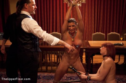Photo number 14 from Slave Initiation: buffy  shot for The Upper Floor on Kink.com. Featuring Ariel X and Odile in hardcore BDSM & Fetish porn.