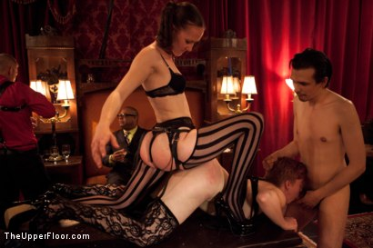 Photo number 11 from House Party: Leather Appreciation  shot for The Upper Floor on Kink.com. Featuring Dylan Ryan, Beretta James, Derrick Pierce, Sparky Sin Claire, Iona Grace and Jack Hammer in hardcore BDSM & Fetish porn.