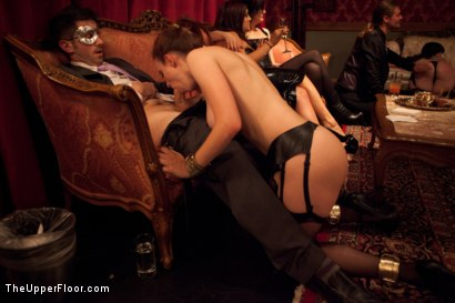 Photo number 4 from House Party: Leather Appreciation  shot for The Upper Floor on Kink.com. Featuring Dylan Ryan, Beretta James, Derrick Pierce, Sparky Sin Claire, Iona Grace and Jack Hammer in hardcore BDSM & Fetish porn.