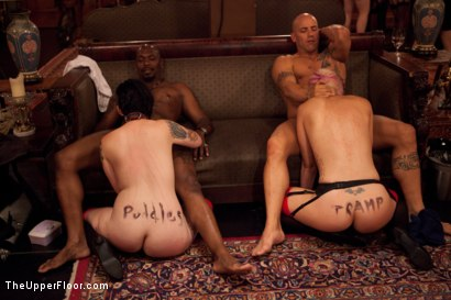 Photo number 8 from House Party: Leather Appreciation  shot for The Upper Floor on Kink.com. Featuring Dylan Ryan, Beretta James, Derrick Pierce, Sparky Sin Claire, Iona Grace and Jack Hammer in hardcore BDSM & Fetish porn.