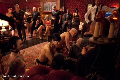 Photo number 1 from House Party: Leather Appreciation  shot for The Upper Floor on Kink.com. Featuring Dylan Ryan, Beretta James, Derrick Pierce, Sparky Sin Claire, Iona Grace and Jack Hammer in hardcore BDSM & Fetish porn.