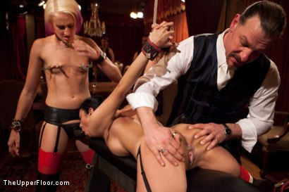 Photo number 8 from Community Dinner:Table Service shot for The Upper Floor on Kink.com. Featuring Dylan Ryan, Beretta James and Iona Grace in hardcore BDSM & Fetish porn.