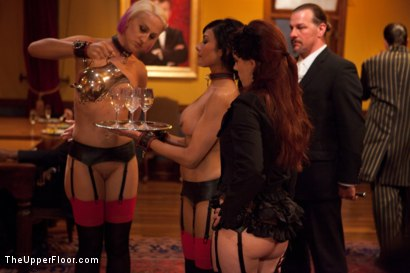 Photo number 13 from Community Dinner:Table Service shot for The Upper Floor on Kink.com. Featuring Dylan Ryan, Beretta James and Iona Grace in hardcore BDSM & Fetish porn.